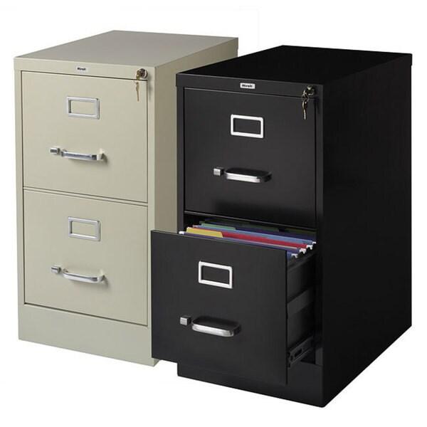 "Hirsh Commercial 22""Deep 2-drawer Letter Vertical File Cabinet. Opens flyout."