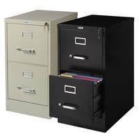 "Hirsh Commercial 22""Deep 2-drawer Letter Vertical File Cabinet"