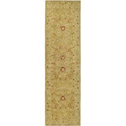Safavieh Handmade Majesty Light Brown/ Beige Wool Rug (2'3 x 20')