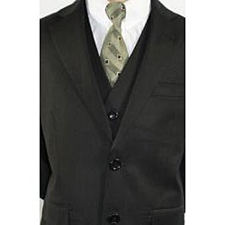 Ferrecci Boys' Black 3-piece 2-button Suit