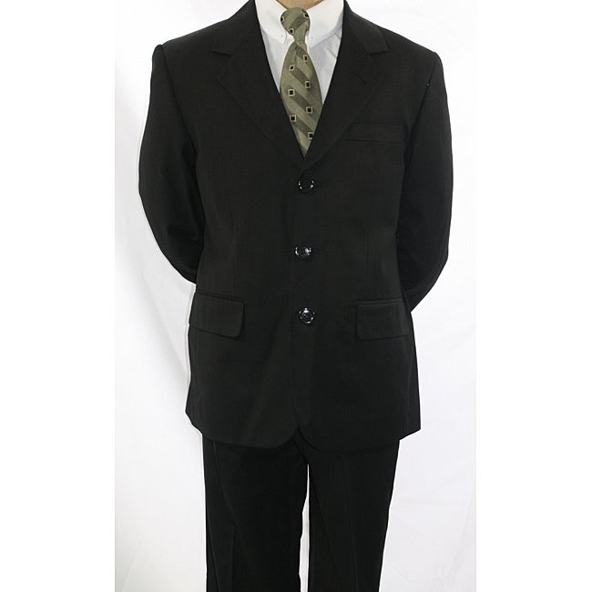 Ferrecci Boys' Black 3-Button Suit