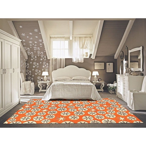 Romantic Rooms And Decorating Ideas: Alliyah Handmade Coral Rose New Zealand Blend Wool Rug (8'x10')