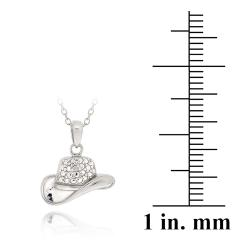 DB Designs Sterling Silver Diamond Accent Cowboy Hat Necklace - Thumbnail 2
