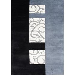 Handmade Metro Sabrina Grey Wool Rug (8x10) - Thumbnail 0
