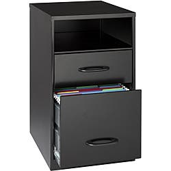 Office Designs Black Steel 2-drawer File Cabinet with Shelf|https://ak1.ostkcdn.com/images/products/6560212/Office-Designs-Black-Steel-2-drawer-File-Cabinet-with-Shelf-P14138786.jpg?impolicy=medium