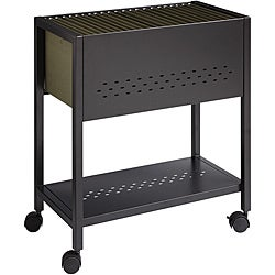 Office Designs 24-inch Black Mobile File Cart with Locking Casters