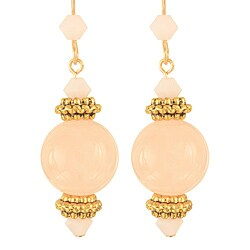 Handmade Gold Filled 'Pink Grapefruit Blossom' Earrings ()