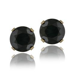 Glitzy Rocks 14k Yellow Gold 3 1/5ct TGW Sapphire Stud Earrings