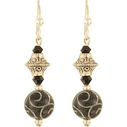Gothic Silver Swirls Earrings