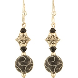 'Gothic Silver Swirls' Sterling Silver Earrings