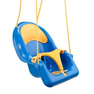 Swing-N-Slide Comfy-N-Secure Coaster Swing - Blue and Yellow