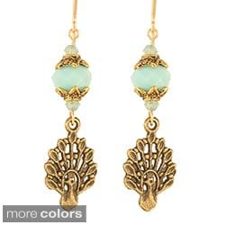 'Babylonian Peacock' Earrings