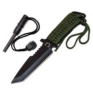 Defender 7-inch Fire Starter Carbon Steel Blade Hunting Knife