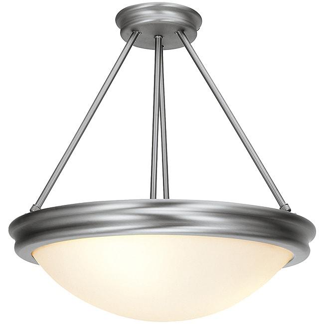 Atom Brushed Steel Semi-Flush/ Pendant Light