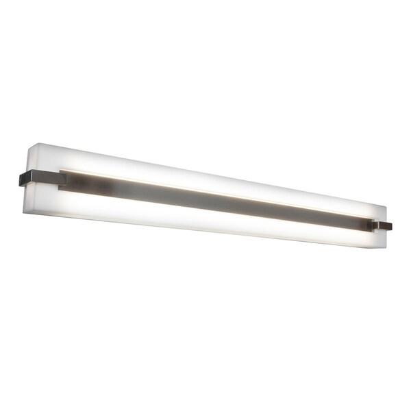 Access Sierra 2-light Brushed Steel Wall Vanity