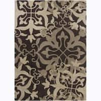 Artist's Loom Hand-tufted Transitional Floral Wool Rug - 9' x 13'