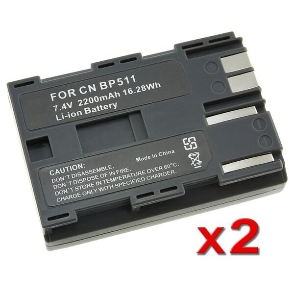 INSTEN Battery for Canon EOS/ 20D/ 30D/ 40D/ 5D/ 10D/ 50D/ BP-511 (Pack of 2)