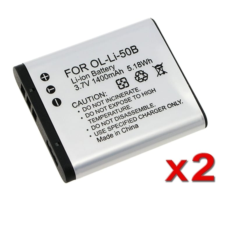 INSTEN Battery Pack 238944 for Olympus LI-50B (Pack of 2)