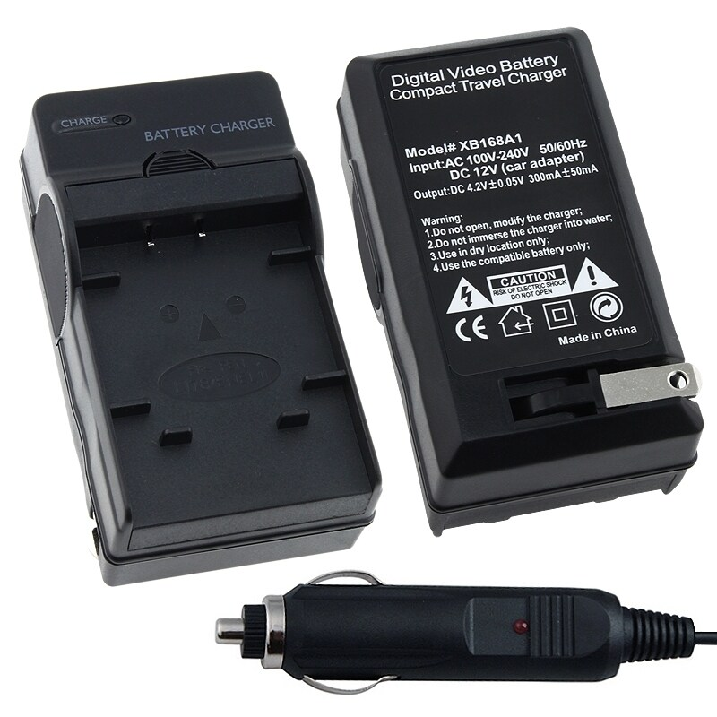 BasAcc Compact Battery Charger Set for Nikon LI-78 / EN-EL-11