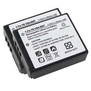 INSTEN CGA-S007A/ 1B 2-pack Batteries for Panasonic Lumix DMC-TZ5