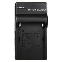 INSTEN Black Compact Battery Charger Set for Sony NP-FM500H - Thumbnail 1
