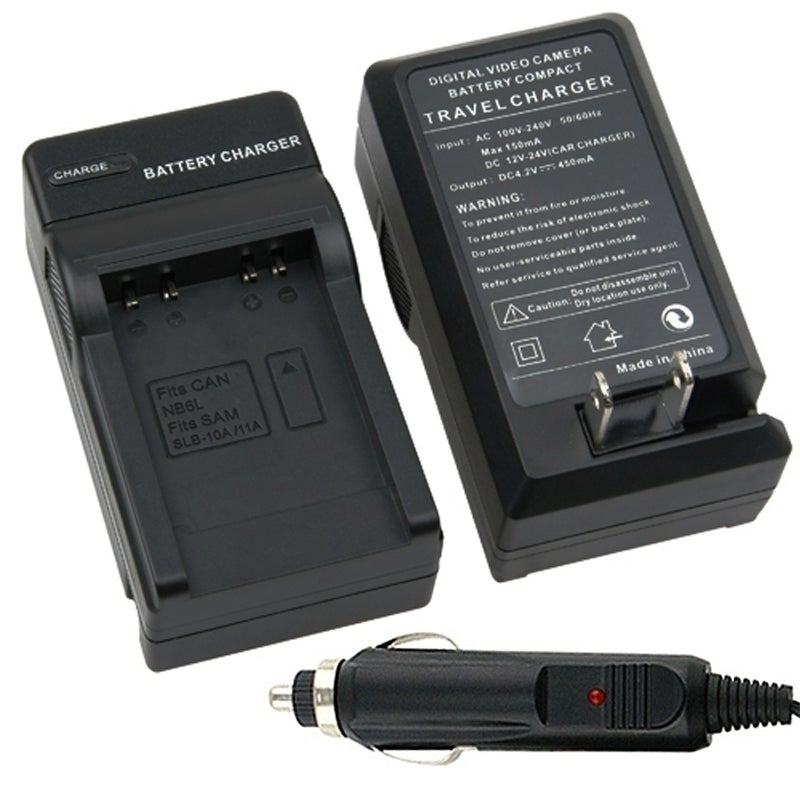 INSTEN Compact Battery Charger Set for Samsung SLB-10A / 11A