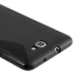 INSTEN Frost Black S Shape TPU Rubber Skin Phone Case Cover for Samsung Galaxy Note N7000 - Thumbnail 2