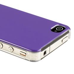 INSTEN Shiny Purple Snap-on Phone Case Cover for Apple iPhone 4/ 4S