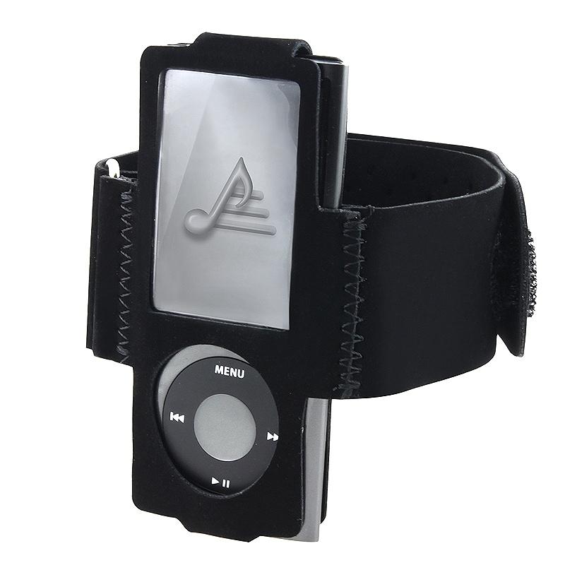 BasAcc Black Suede Armband for iPod Gen5 Nano