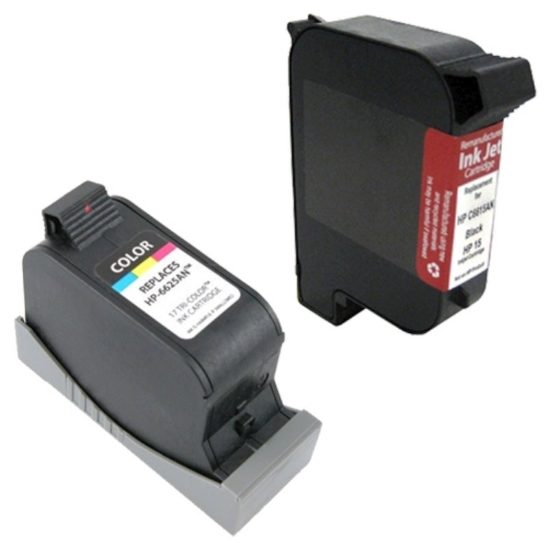 INSTEN HP 15 / 17 Black and Color Ink Cartridge Set (Remanufactured)