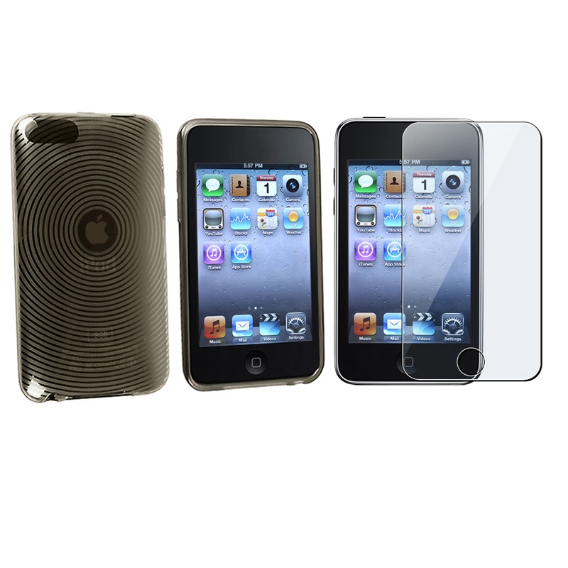 BasAcc TPU Rubber Case/ Screen Protector for iPod Touch
