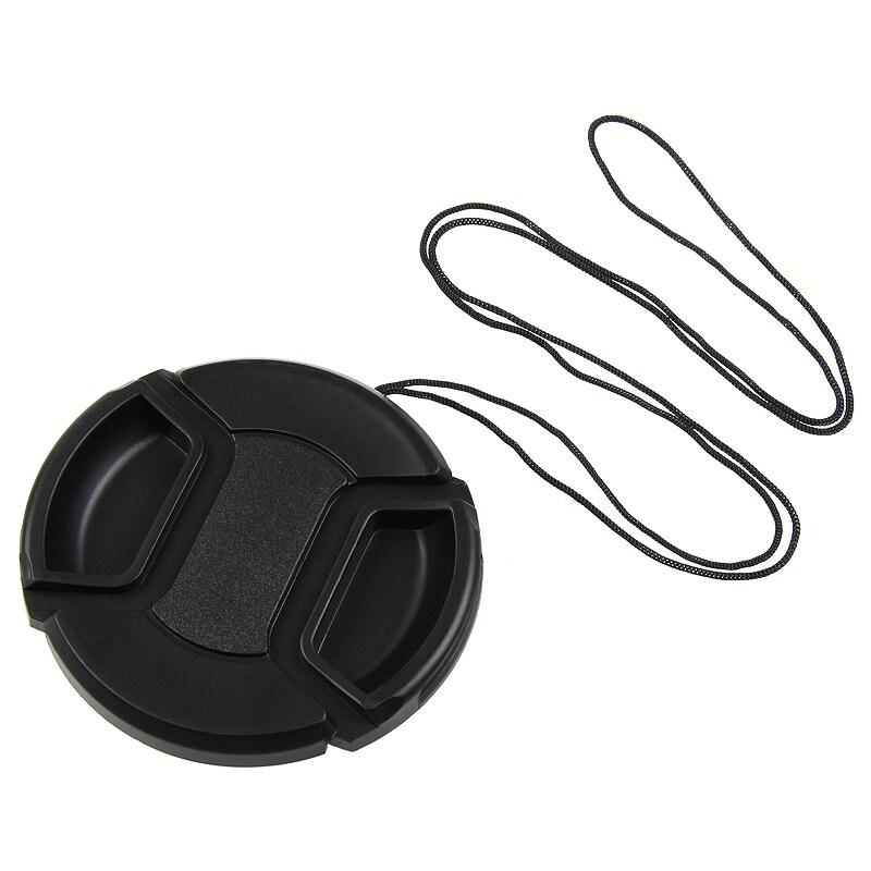 INSTEN 58-millimeter Black Plastic Snap-on Camera/ Camcorder Lens Cap