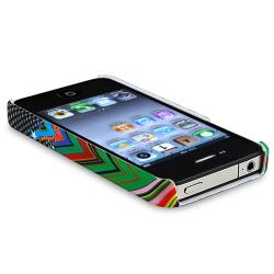 INSTEN Rainbow Star Phone Case Cover/ Anti-glare Protector for Apple iPhone 4