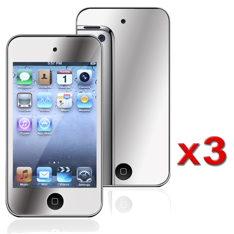 INSTEN Mirror Screen Protector for Apple iPod Touch 4 (Pack of 3)