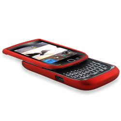 BasAcc Wine Red Rubber Coated Case for BlackBerry Torch 9800