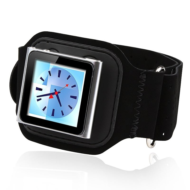 BasAcc Black Suede Armband for Apple iPod Nano 6th Gen