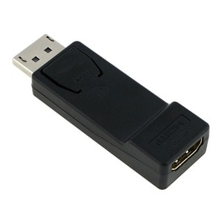 INSTEN Black DisplayPort Male to HDMI Female Adapter