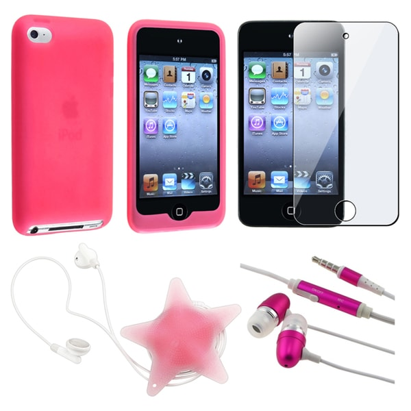 BasAcc Case/ LCD Protector/ Headset for Apple iPod Touch Generation 4