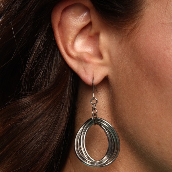Inox Stainless Steel Oval Shape Loop Earrings