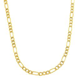 Fremada 10k Yellow Gold 3.6-mm Figaro Link Chain (20-inch)