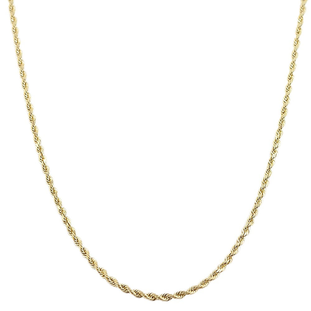 Fremada 10k Yellow Gold 1.2-mm Rope Chain (20-inch)