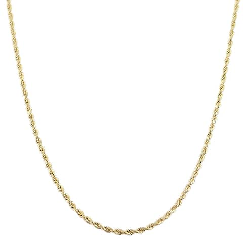 Fremada 10k Yellow Gold 1.2-mm Rope Chain (30-inch)