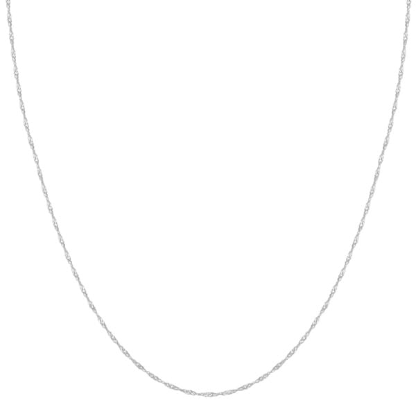10-karat White Gold One-millimeter Singapore Fashion Chain (20-inch)