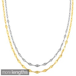 Fremada 10k White or Yellow Gold 1.9-mm Mirror Flat Link Chain (16 - 20 inch)