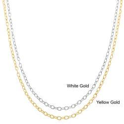 Fremada 10k Gold Textured Filo Link Chain