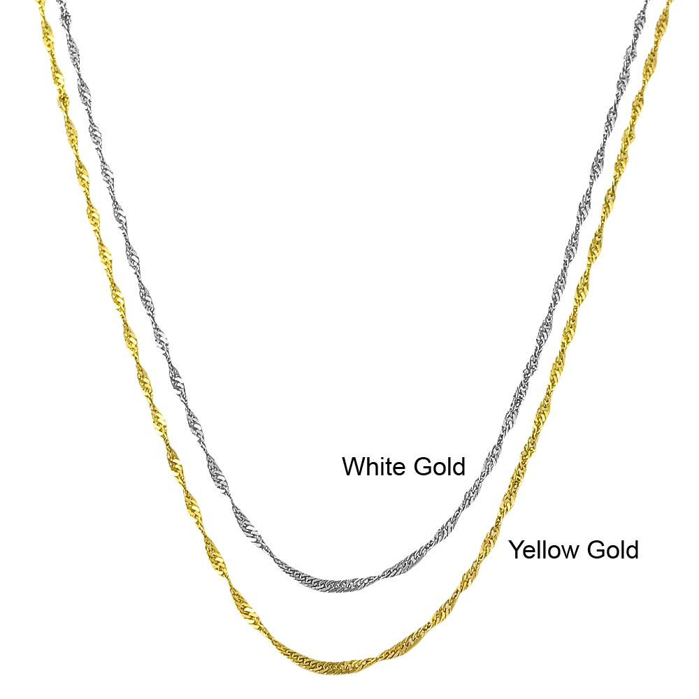 Fremada 10k Gold Singapore Chain