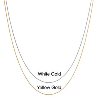 Ten-karat White or Yellow Gold Diamond-cut Cable Chain