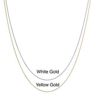 Ten-karat White or Yellow Gold Diamond-cut Cable Chain