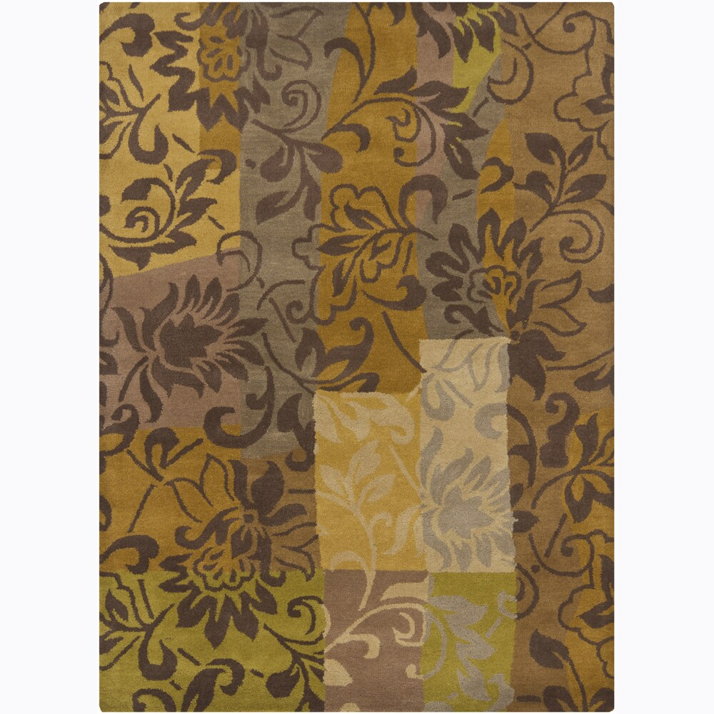 Artist's Loom Hand-tufted Transitional Floral Wool Rug (7'x10') - 7'x10'