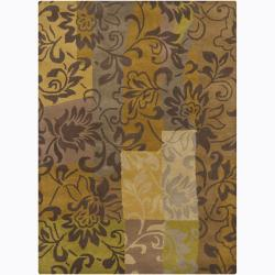 Artist's Loom Hand-tufted Transitional Floral Wool Rug (7'x10') - 7'x10' - Thumbnail 0